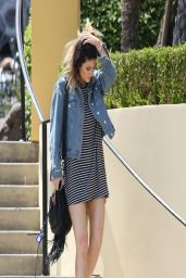 Kylie Jenner in Mini Dress - Leaving Sugarfish in Calabasas - April 2014