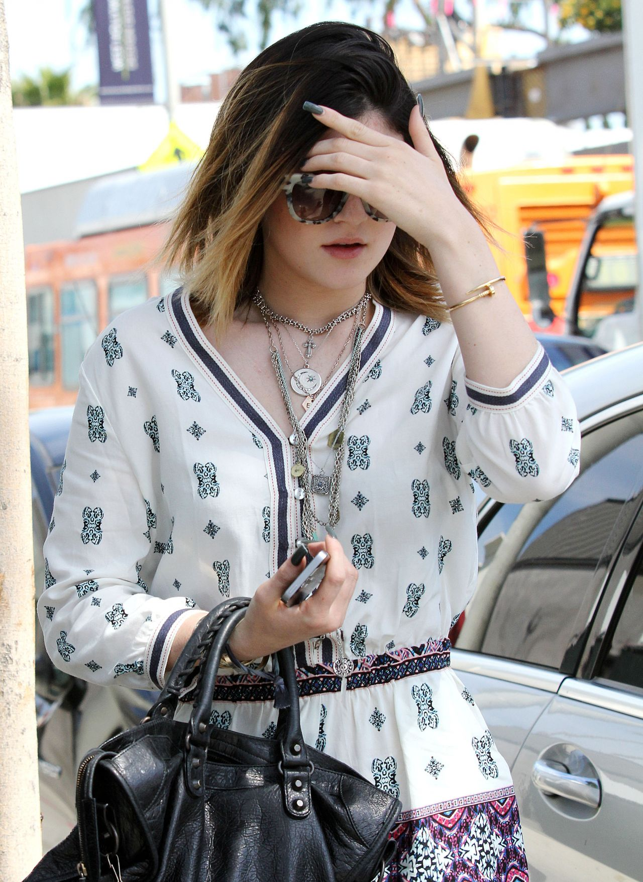 Kylie Jenner Street Style - Out in Los Angeles - April 2014