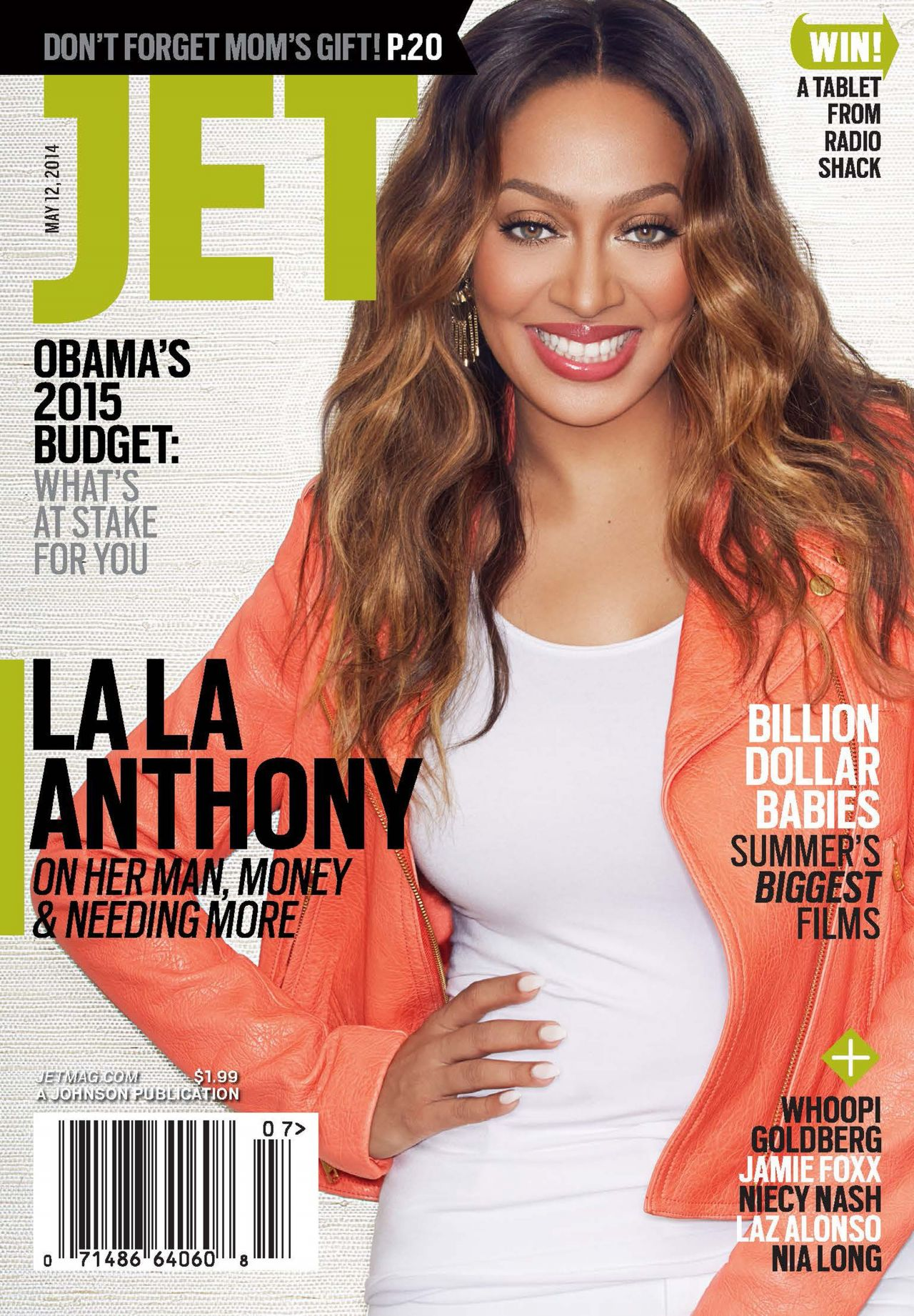 La La Anthony (Vasquez) - Jet Magazine May 12, 2014 Issue
