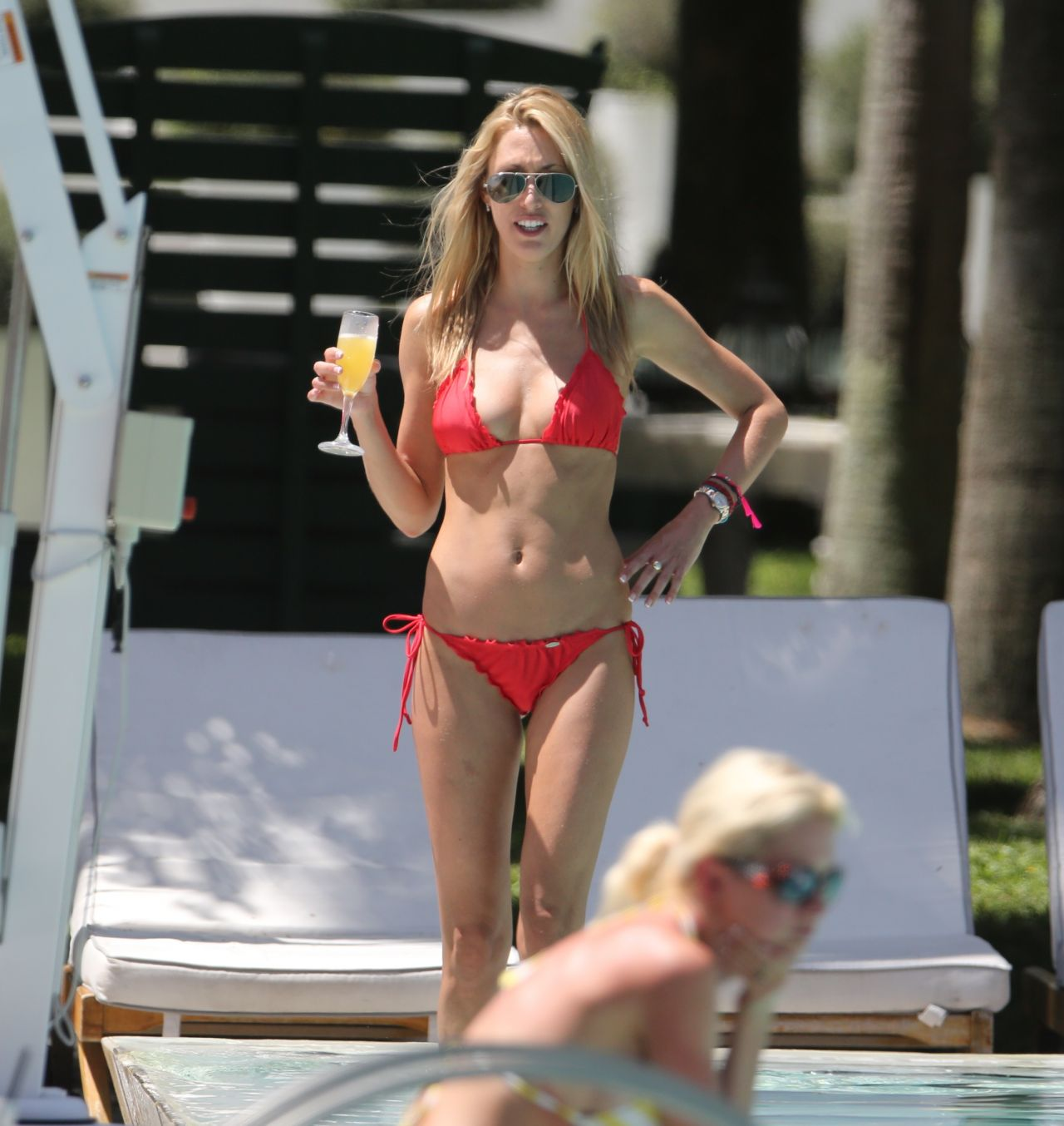 Lauren Stoner in Red Bikini - Enjoying the Miami Sun - April 2014