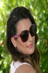 Lea Michele - LACOSTE Beautiful Desert Pool Party at Coachella - April 2014