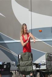 Leann Rimes at Her Campsite in the Mojave Desert - March 2014