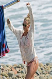 LeAnn Rimes Bikini Candids - Beach in California - April 2014