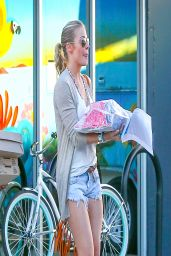 LeAnn Rimes Wearing Denim Shorts - Out in Woodland Hills - April 2014