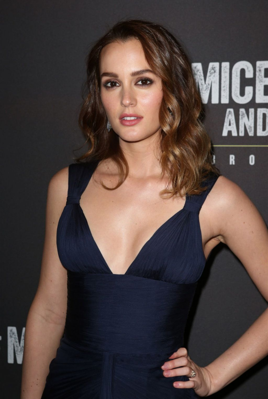 Leighton Meester At Of Mice And Men Broadway Opening