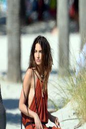 Lily Aldridge in a BIkini - Photoshoot in Miami Beach - April 2014