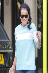 Lily Allenin in Jeans - Leaving the David Morris Jewellers in London