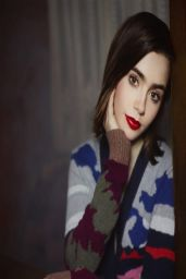 Lily Collins - Barrie Knitwear Collection - Karl Lagerfeld (2014)