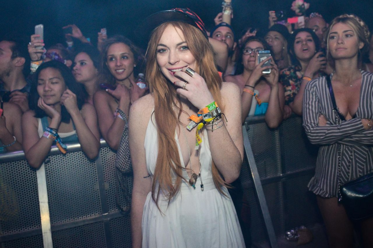 Lindsay Lohan at the Coachella Festival 2014 in Indio