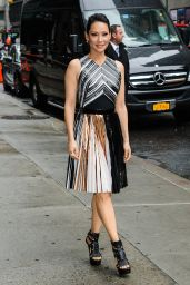 Lucy Liu at The Late Show With David Letterman in New York City - April 2014