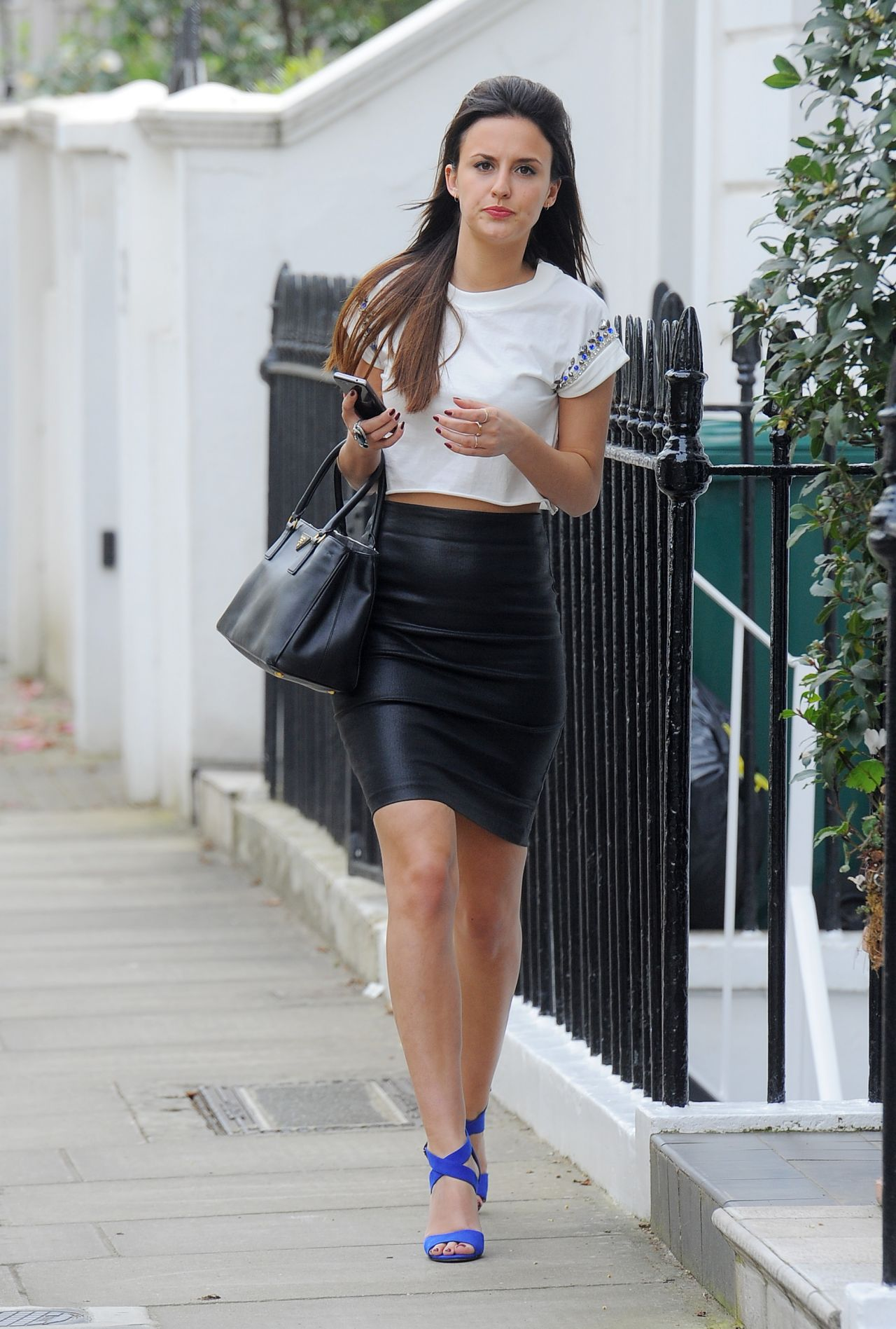 Lucy Watson In Tight Skirt Out In London April 2014
