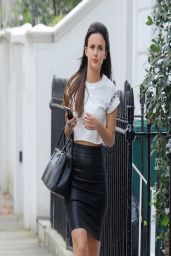Lucy Watson in Tight Skirt - Out in London - April 2014