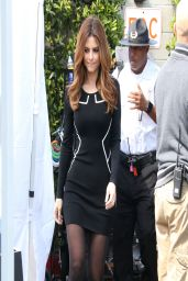 Maria Menounos on the Set of Extra in LA - March 2014