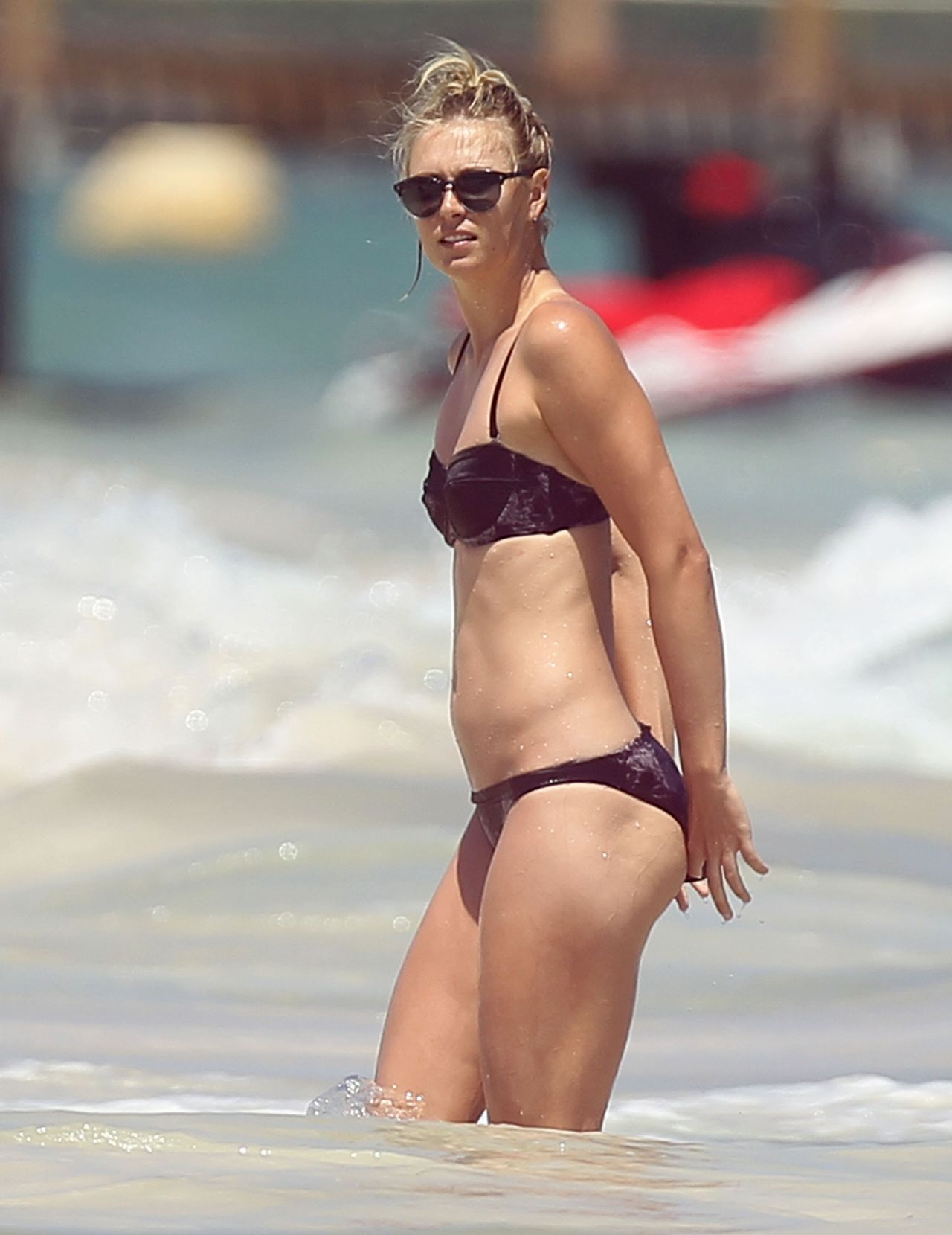 Maria Sharapova Bikini Candids - Cancun, April 2014