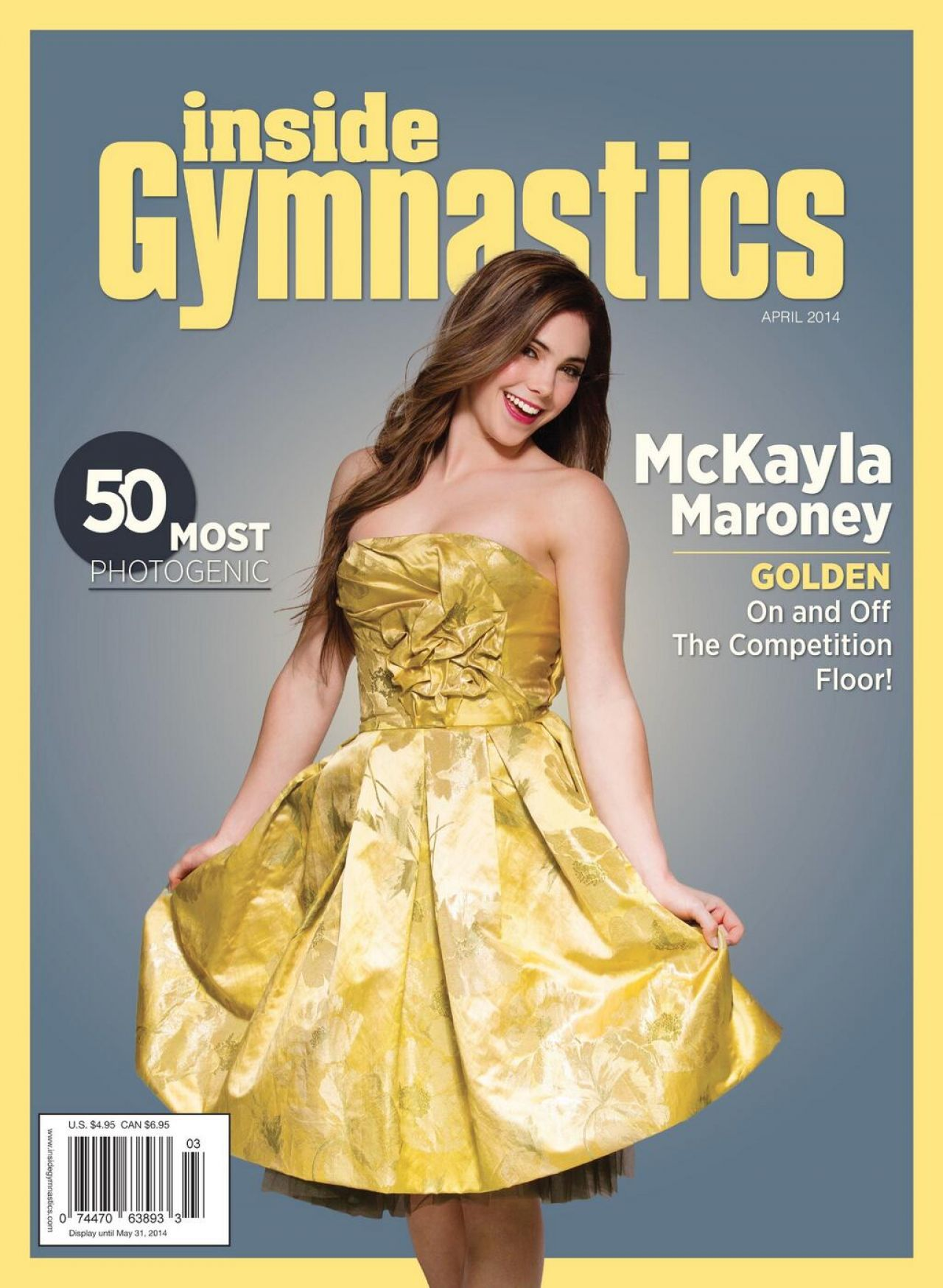 McKayla Maroney - Inside Gymnastics Magazine - April 2014 Cover