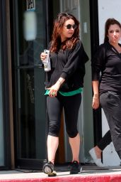 Mila Kunis in Leggings - Attending a Pilates Class in Los Angeles - April 2014
