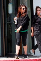 Mila Kunis in Leggings - Attending a Pilates Class in Los Angeles - April 2014