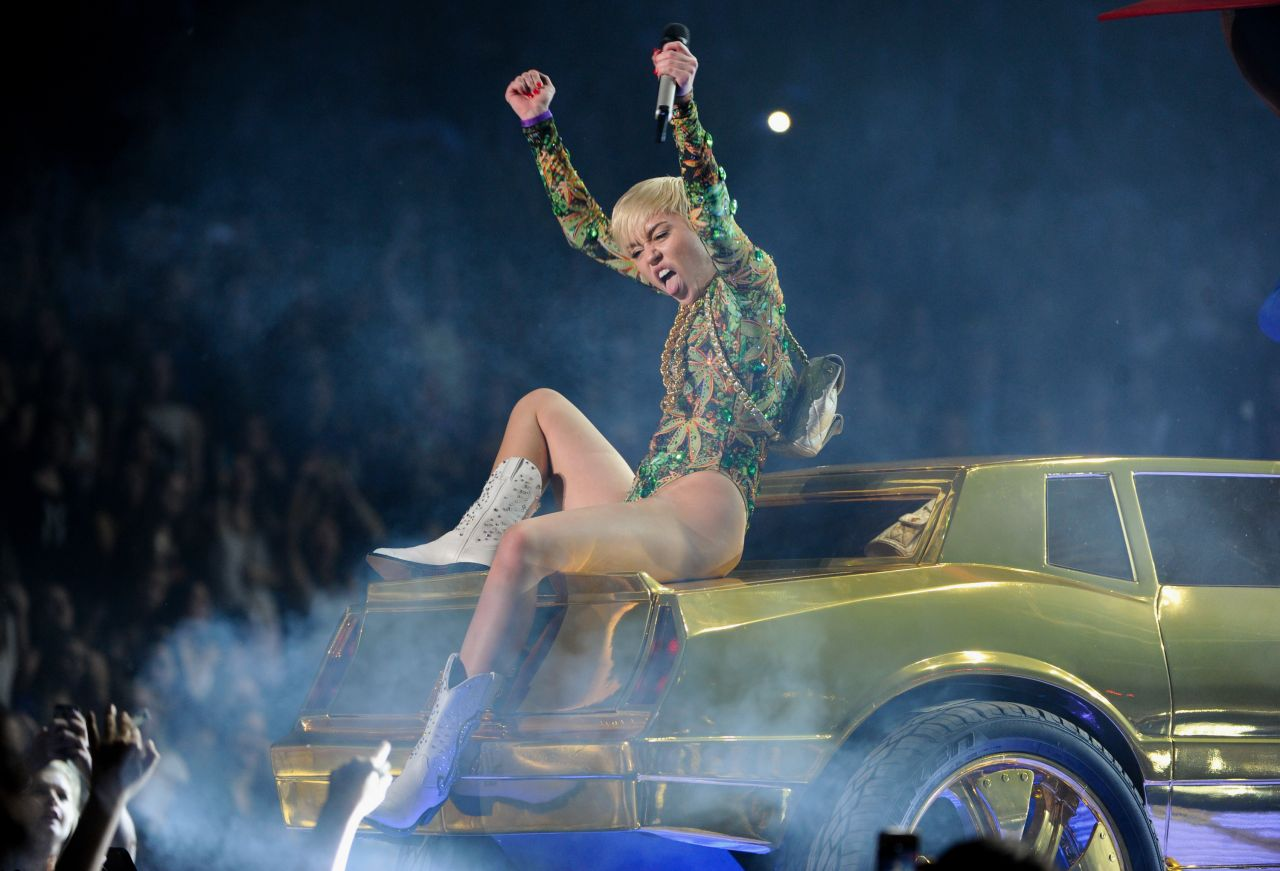 Miley Cyrus Performs at Bangerz Tour - Barclays Center in Brooklyn, NY