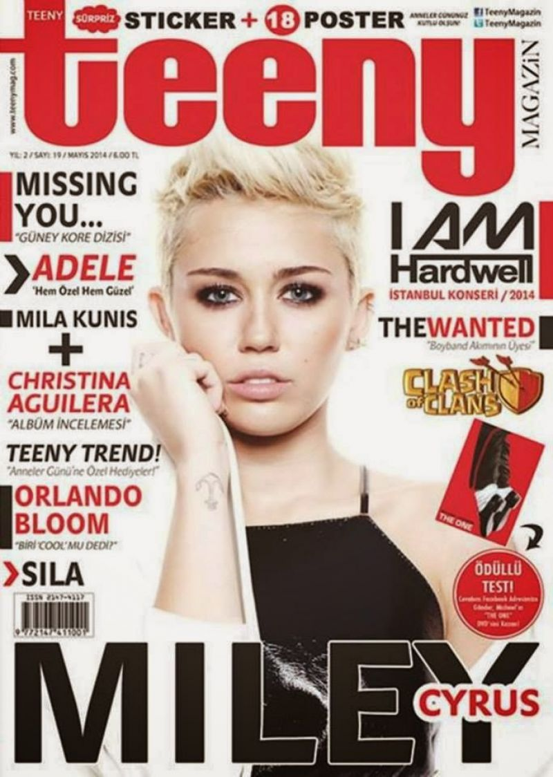 Miley Cyrus - Teeny Magazine May 2014 Cover