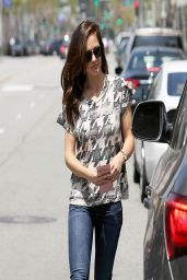 Minka Kelly in Jeans - Out in Beverly Hills - April 2014