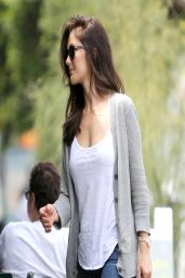 Minka Kelly in Jeans - Out to Lunch in Los Angeles - April 2014