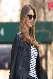 Miranda Kerr in new york City - Filming a Commercial - April 2014