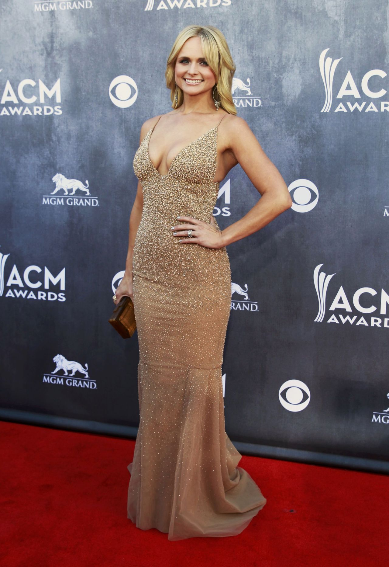 Miranda Lambert Wearing Randi Rahm Gown Academy Of Country Music Awards April 6 2017