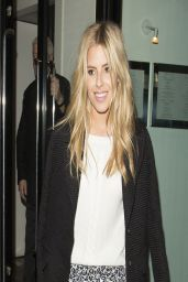 Mollie King - Leaving The Boundary Restaurant in London