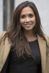 Myleene Klass Casual Style - Leaving the ITV studios in London - April 2014