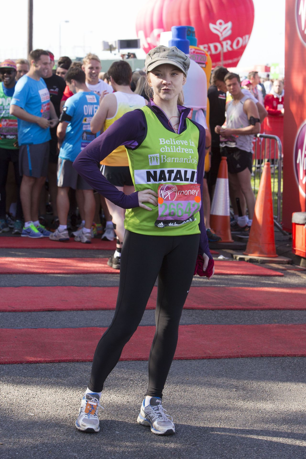 Natalie Dormer - Virgin Money London Marathon - April 2014
