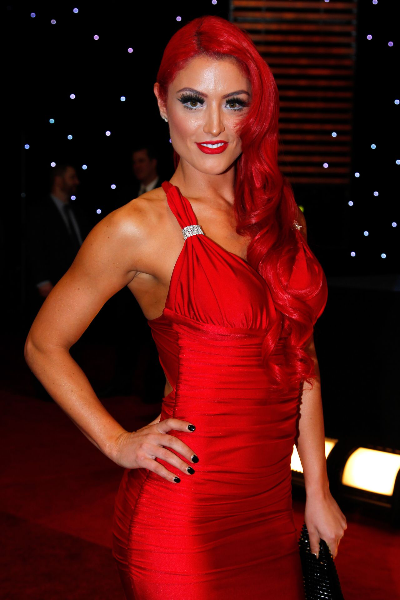Natalie Nelson (Eva Marie) - WWE Hall of Fame Induction Ceremony - April 2014