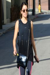 Nikki Reed- Comes Out of the Gym in Studio City - April 2014