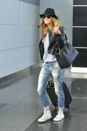 Nina Agdal at JFK Airport in New York City - April 2014