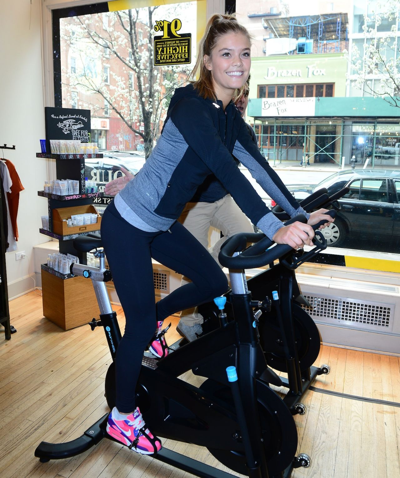 Nina Agdal - Ride for Charity Benefit in New York City - April 2014