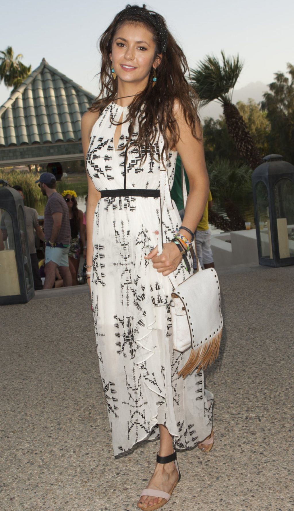 Nina Dobrev - Soho Desert House With Bacardi at Coachella 2014