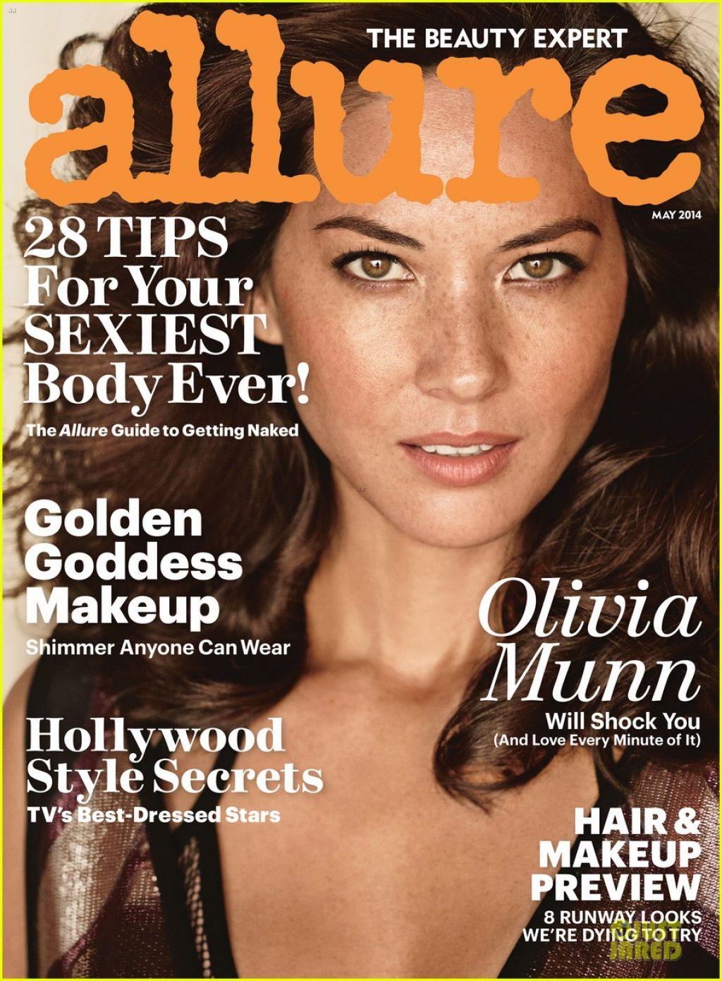 Olivia Munn Allure Magazine May 2014 Cover Amp Photoshoot