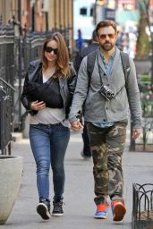 Olivia Wilde and Jason Sudeikis With Baby Son - Out in New York City - April 2014