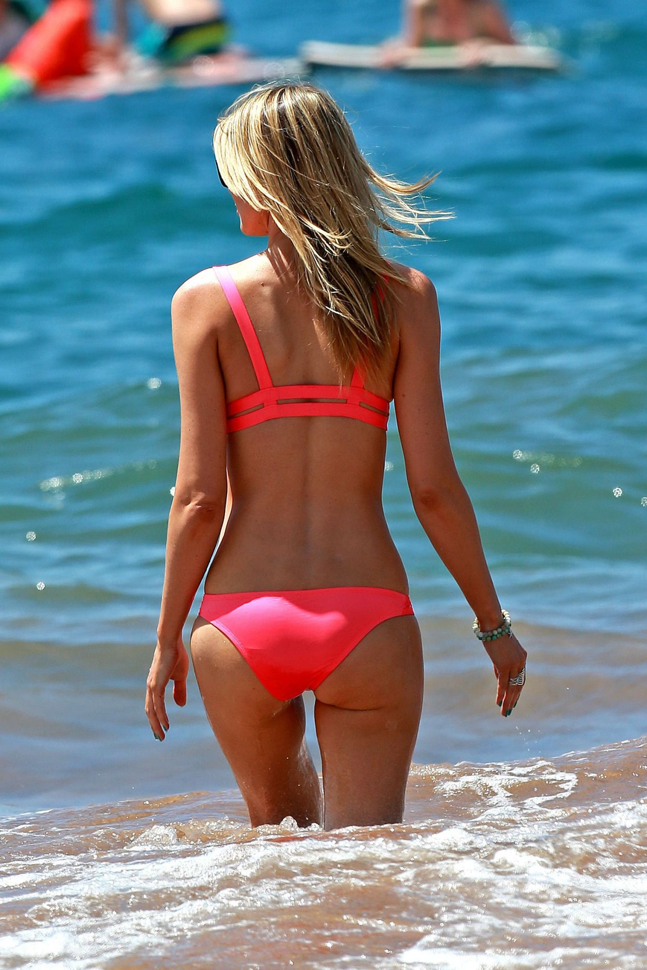 Paige Butcher in Pink Bikini - Maui beach - April 2014