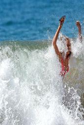 Paige Butcher in Pink Bikini - Maui beach - April 2014