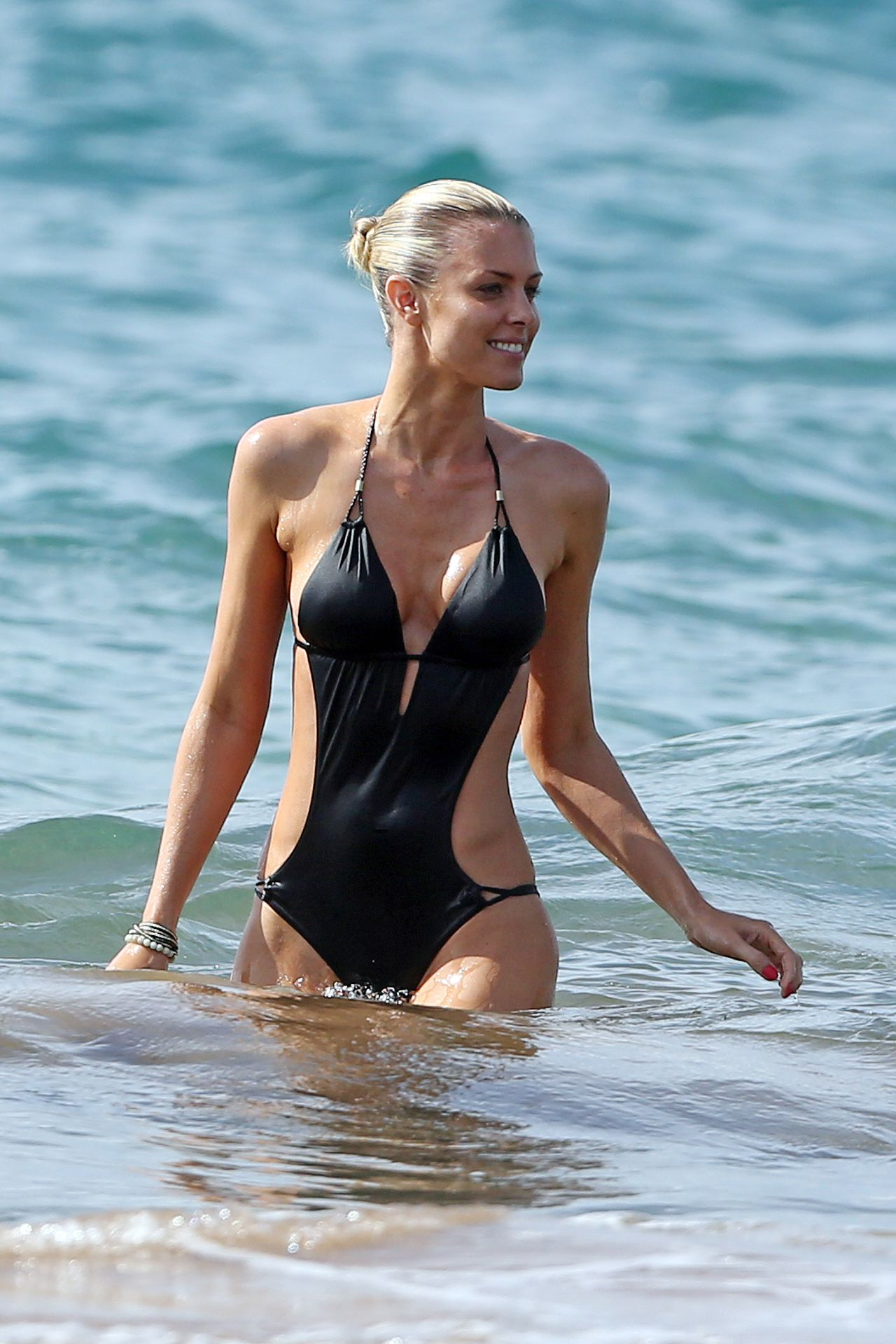 Paige Butcher in Swimsuit – Beach in Hawaii – April 2014