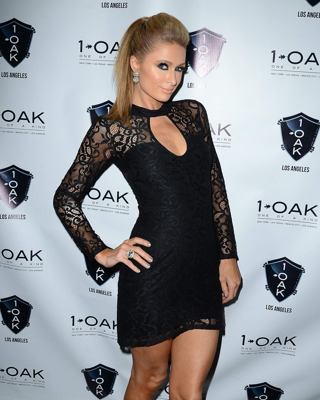 Paris Hilton at 1 OAK nightclub in West Hollywood - April 2014
