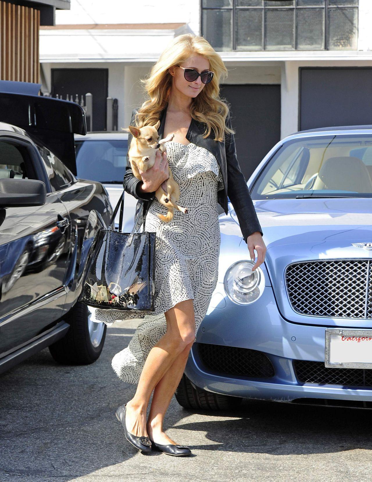 Paris Hilton - Leaving a Hair Salon - April 2014