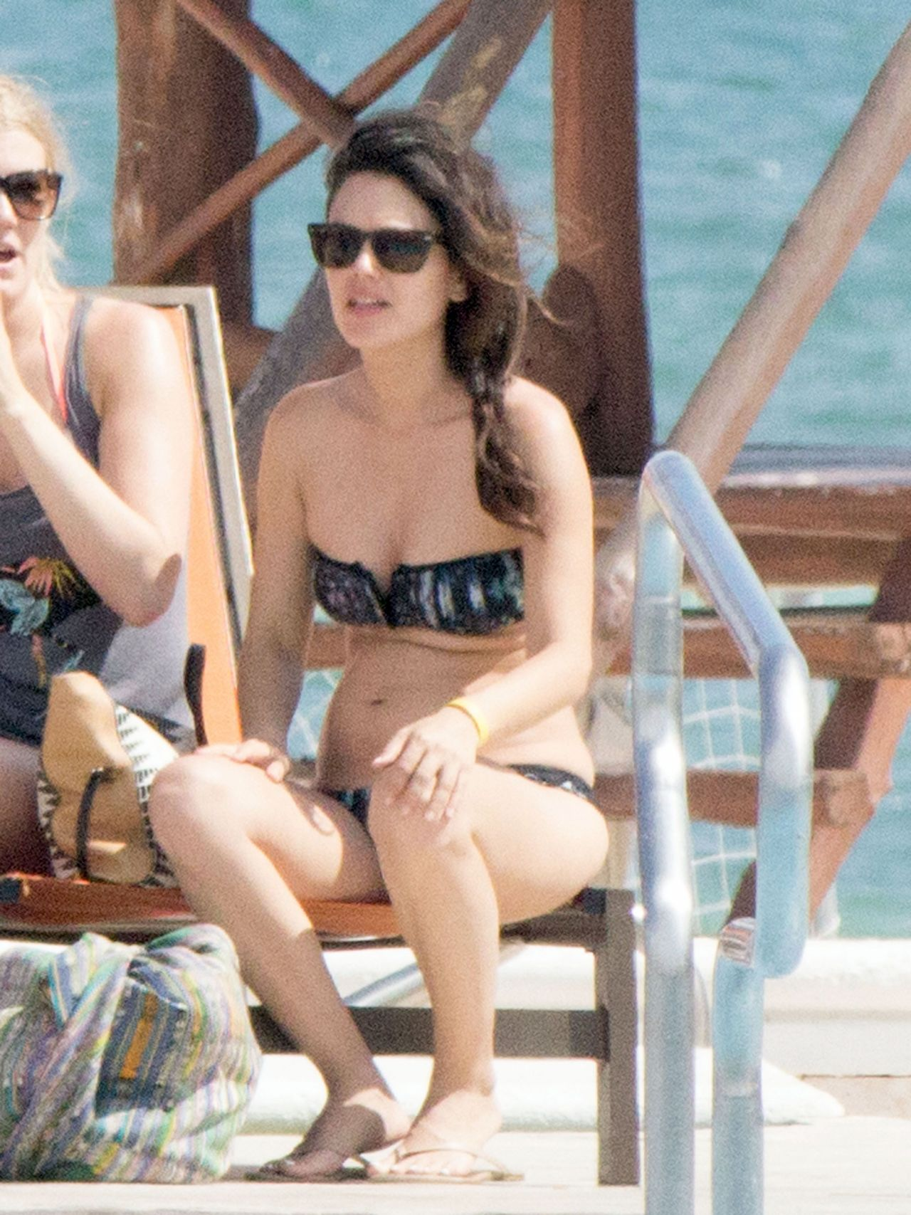 Rachel Bilson at a Pool in Cancun - April 2014