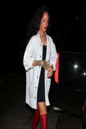 Rihanna Night Out Style - Arrives at Giorgio Baldi Restaurant in Santa Monica - April 2014