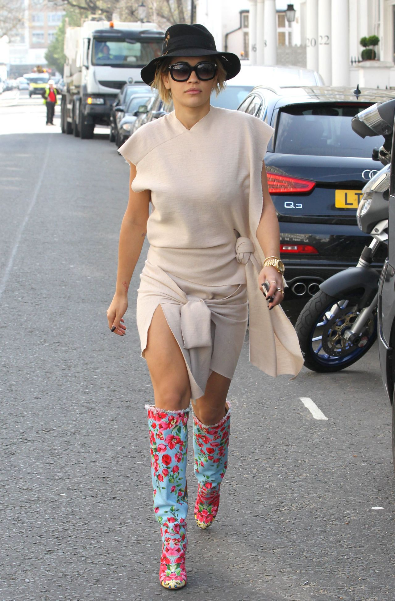 Rita Ora Street Style - Out in London - April 2014
