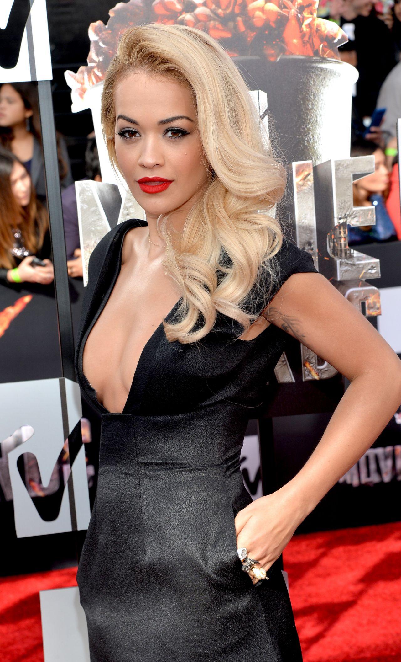 Rita Ora Wearing Barbara Casasola Black Dress 2014 Mtv
