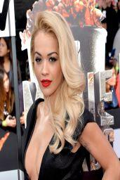 Rita Ora Wearing Barbara Casasola Black Dress - 2014 MTV Movie Awards in Los Angeles