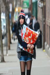 Sarah Silverman - Out in the East Village - New York City, April 2014