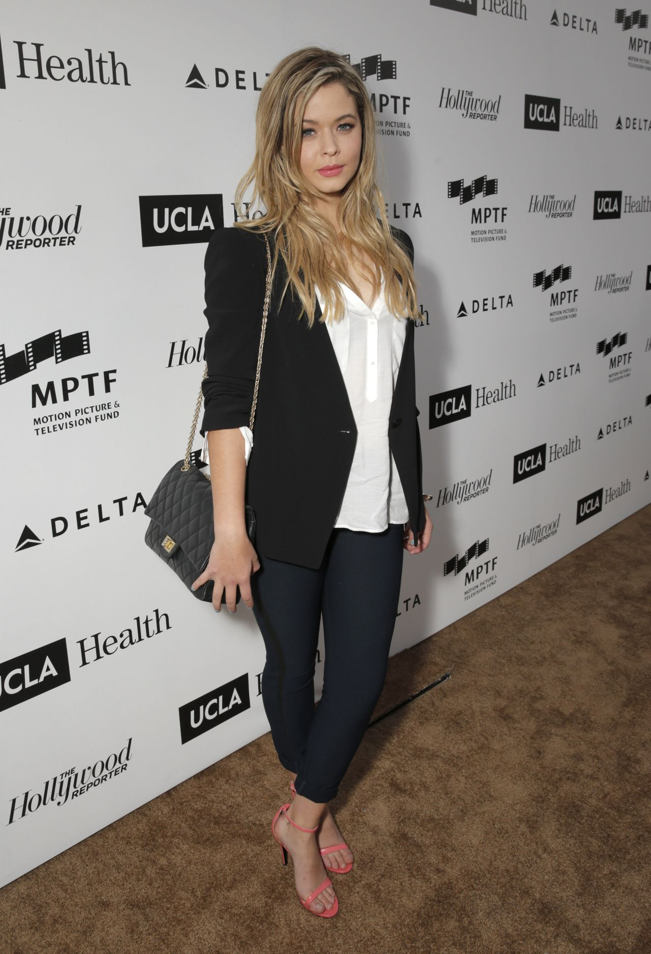 Sasha Pieterse at MPTF Reel Stories, Real Lives Event - April 2014