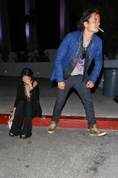 Selena Gomez and Orlando Bloom Outside LA Forum - April 2014